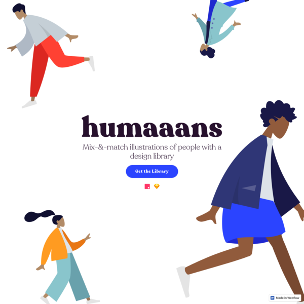 Humaaans: Mix-&-Match illustration library