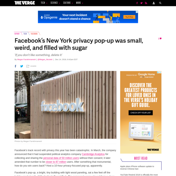 Facebook's New York privacy pop-up was small, weird, and filled with sugar