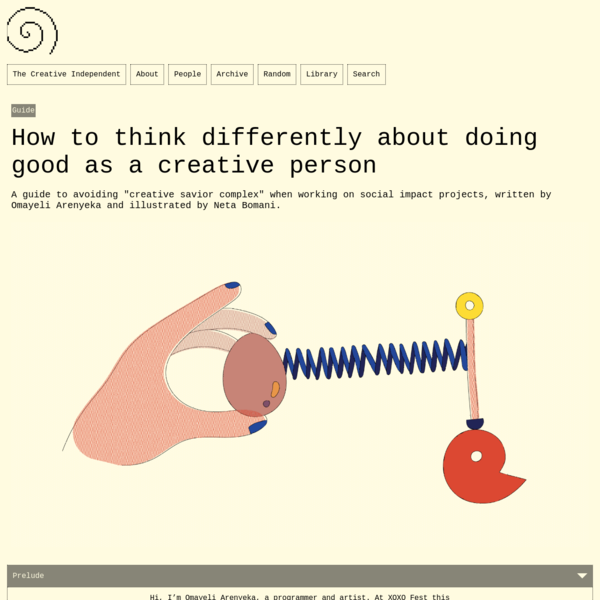 How to think differently about doing good as a creative person – The Creative Independent