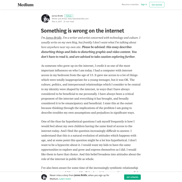 Something is wrong on the internet - James Bridle - Medium