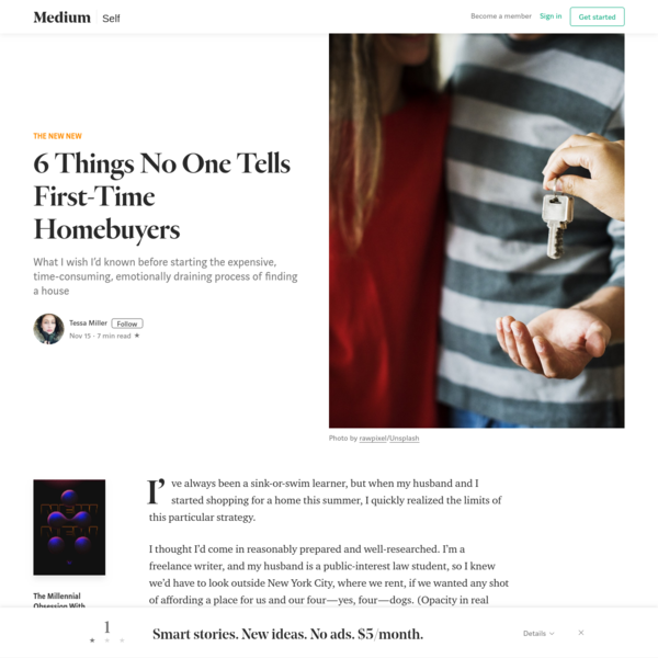 6 Things No One Tells First-Time Homebuyers - The New New - Medium