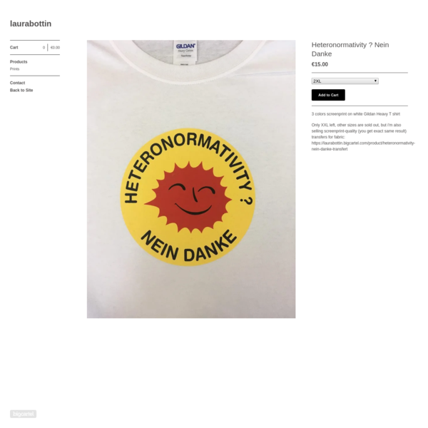 3 colors screenprint on white Gildan Heavy T shirt Only XXL left, other sizes are sold out, but i'm also selling screenprint-quality (you get...