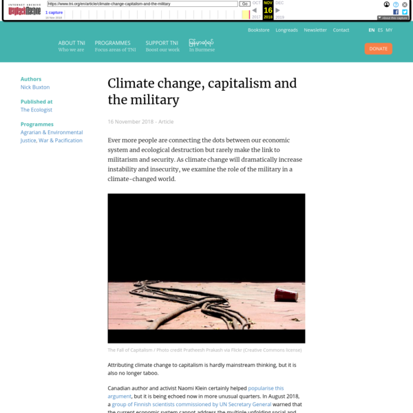 Climate change, capitalism and the military