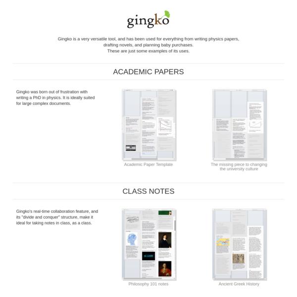 Examples - Gingko App