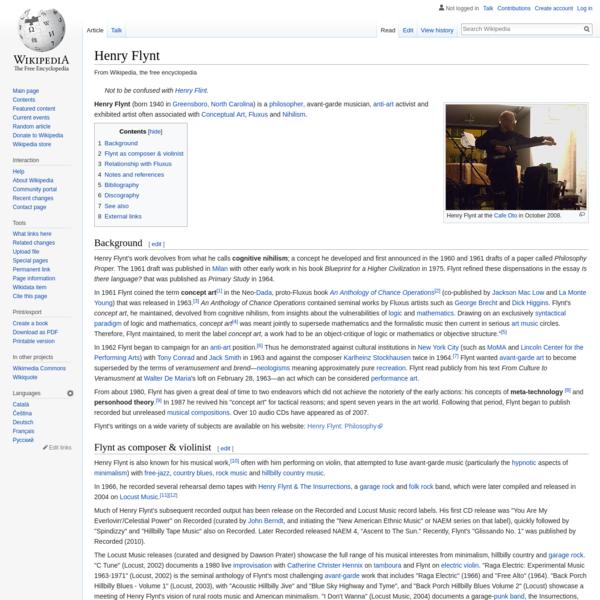 Henry Flynt - Wikipedia