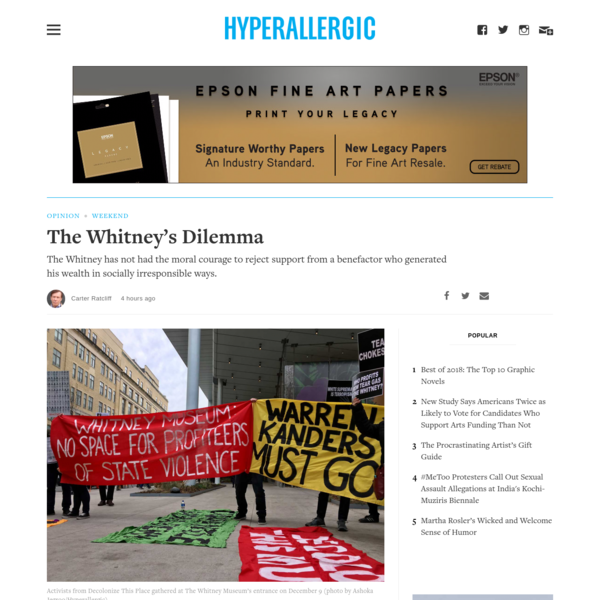 The Whitney's Dilemma