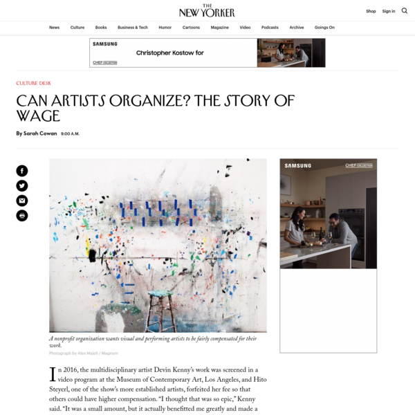 Can Artists Organize? The Story of WAGE