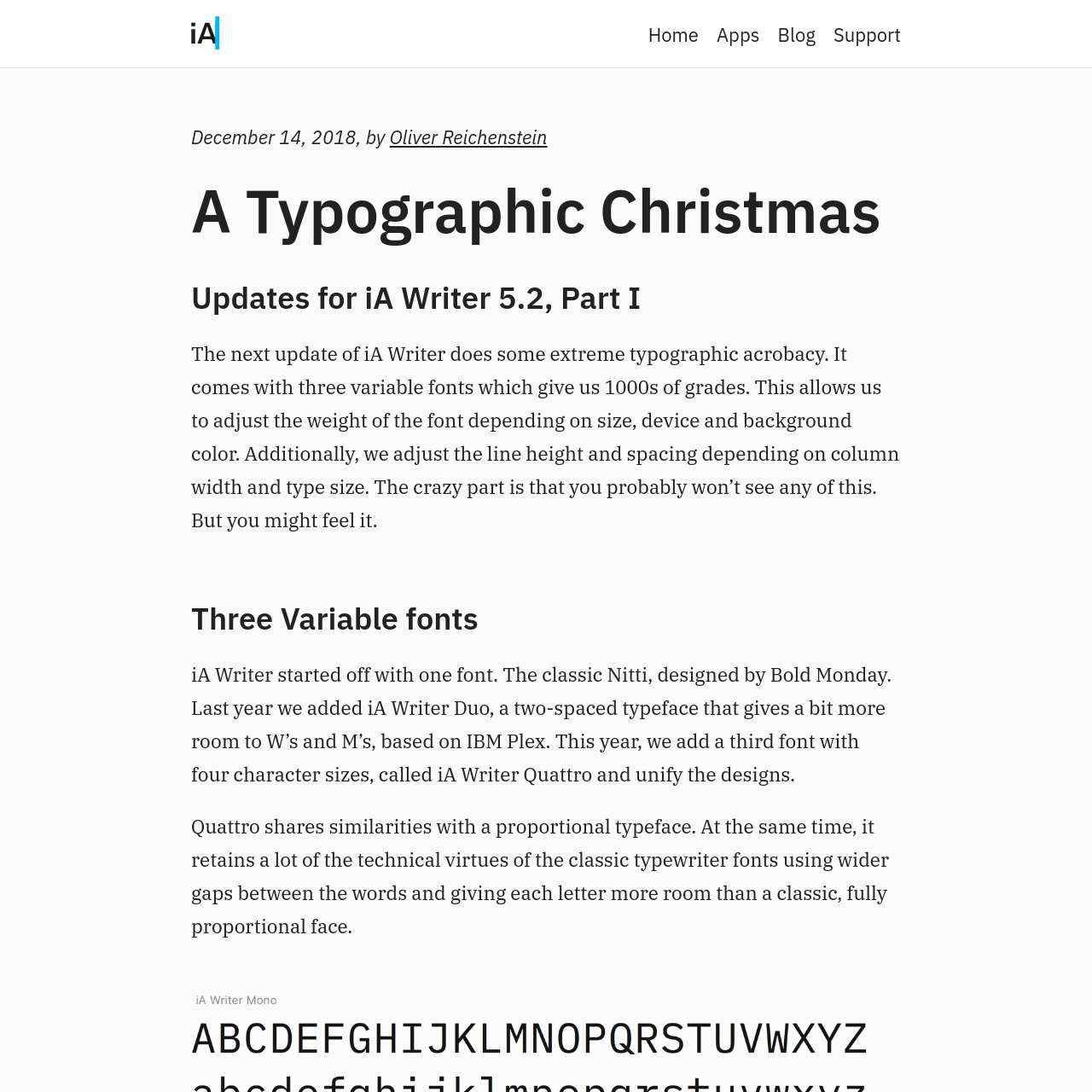 Are na / A Typographic Christmas