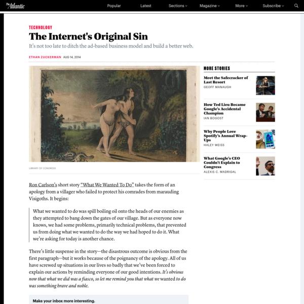 The Internet's Original Sin