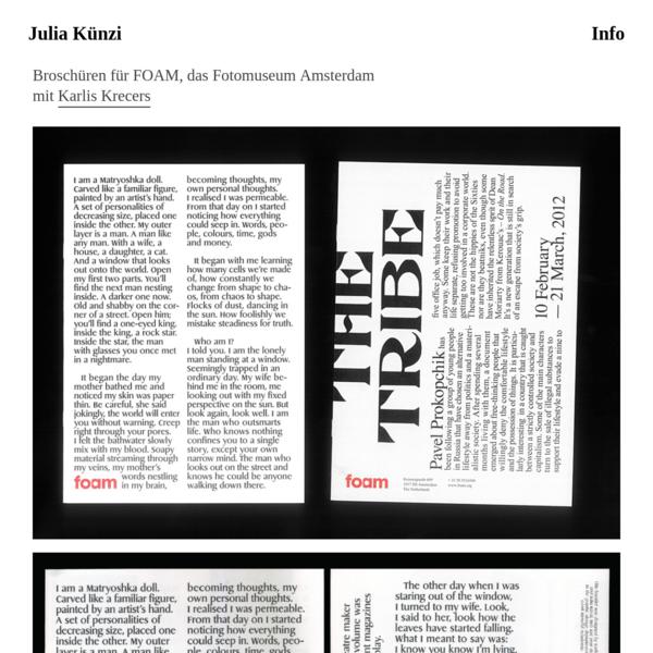 Booklets for FOAM, Amsterdam with Karlis Krecers - Julia Künzi