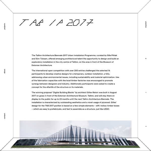 PART Architects | TAB IP 2017