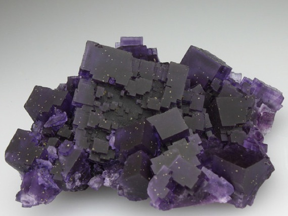 Fluorite with Chalcopyrite micro-crystals