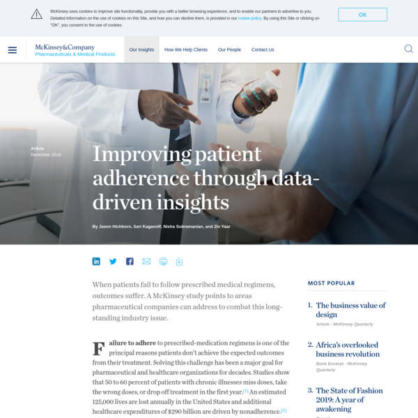 Improving patient adherence through data-driven insights