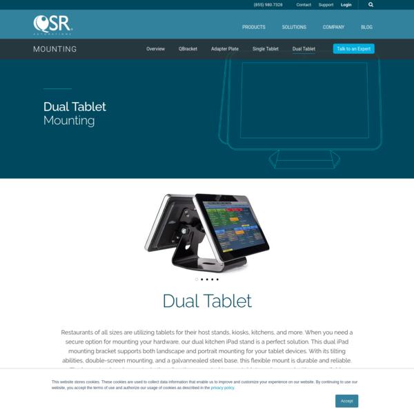 Dual Kitchen iPad Stand | QSR Automations