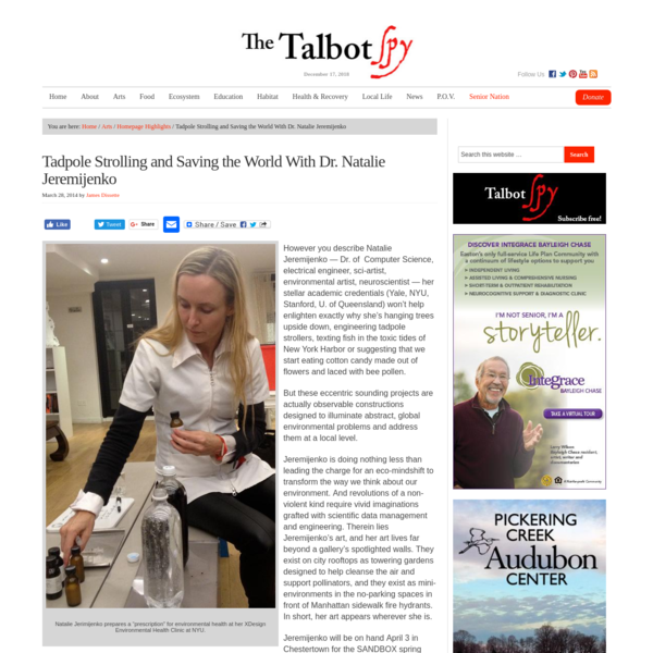 Tadpole Strolling and Saving the World With Dr. Natalie Jeremijenko