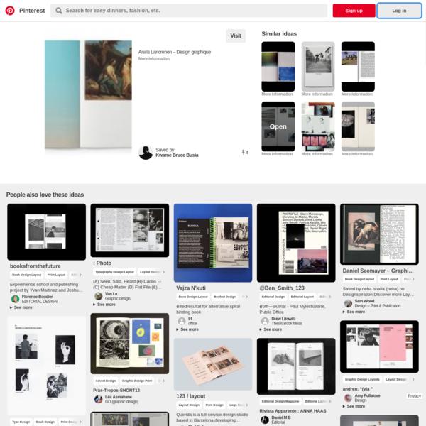 Anaïs Lancrenon - Design graphique | Layouts | Pinterest | Book art, Design and Art