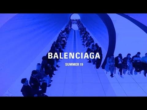 Balenciaga Summer 19 Show Video installation by Jon Rafman Music by BFRND