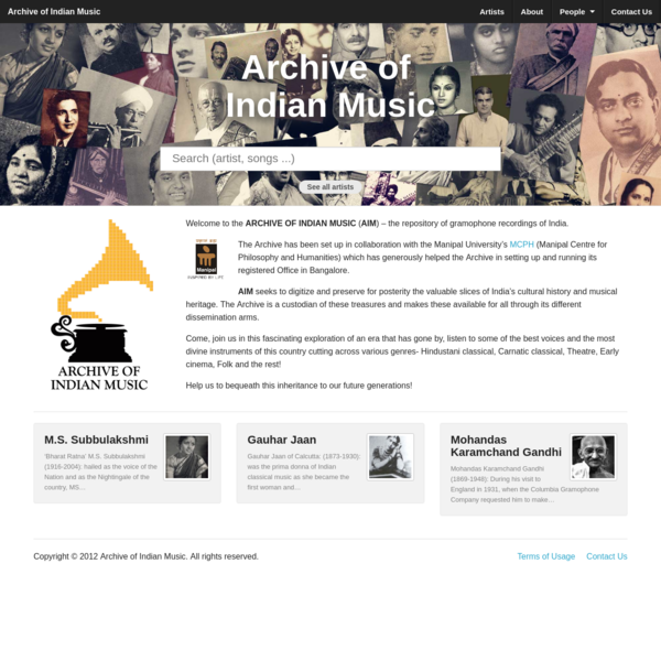 Archive of Indian Music