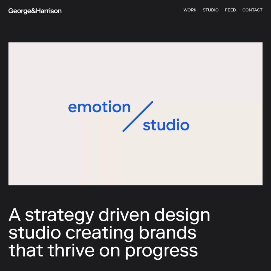 A strategy driven design studio creating brands that thrive on progress.