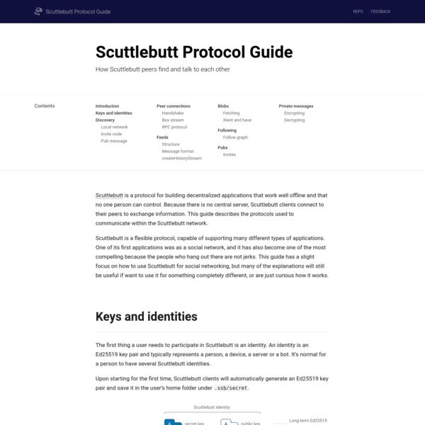 Scuttlebutt Protocol Guide