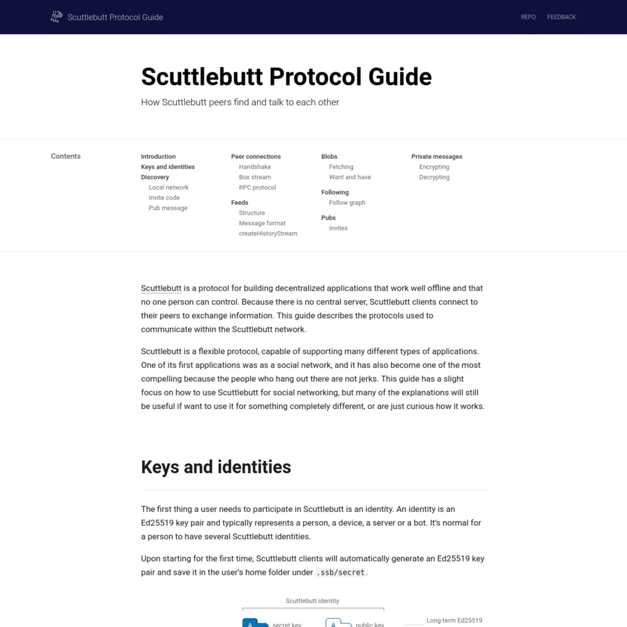 Scuttlebutt is a flexible protocol, capable of supporting many different types of applications. One of its first applications was as a social network, and it has also become one of the most compelling because the people who hang out there are not jerks.