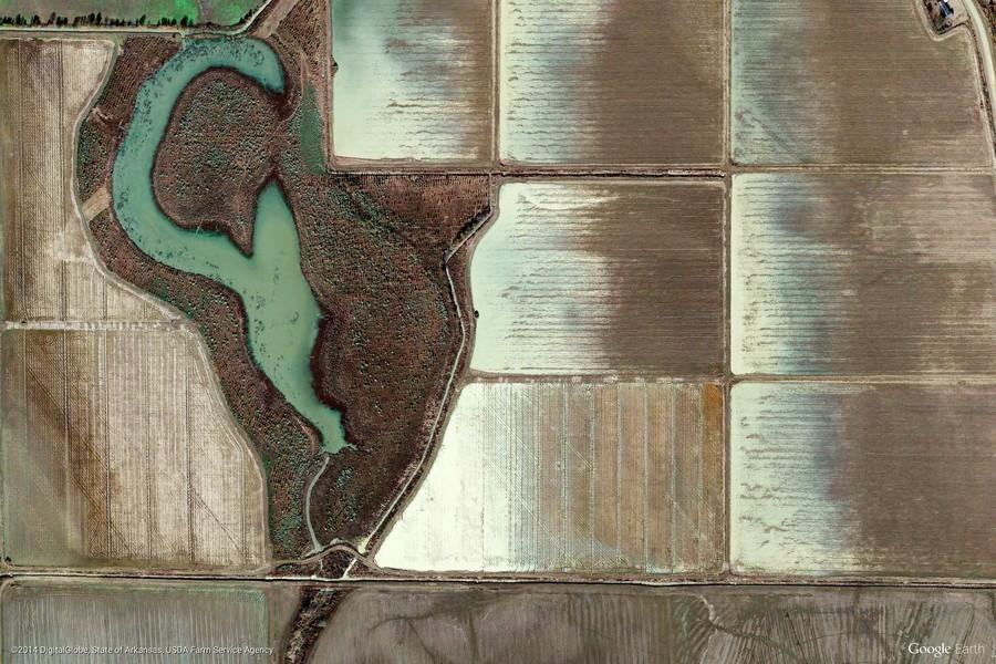 Lambert, Mississippi, United States (Google Earth View 1750)