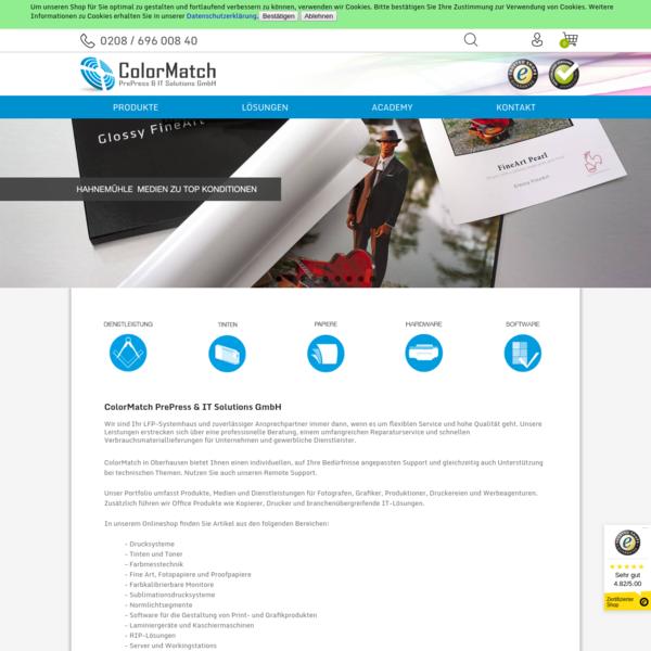 ColorMatch GmbH in Oberhausen - Ihr Systemhaus für LFP