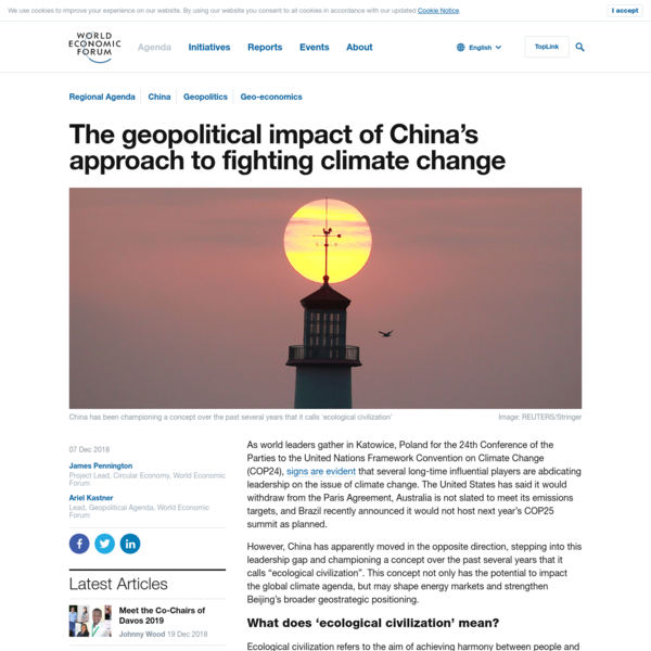 The geopolitical impact of China's approach to fighting climate change