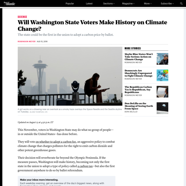 Will Washington State Voters Make History on Climate Change?