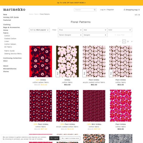 Floral Patterns - Fabric - Marimekko.com