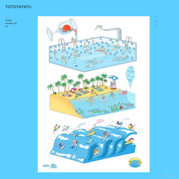 summer poster 2018 - tototatatu