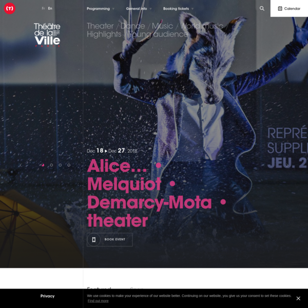 The Théâtre de la Ville-Théâtre des Abbesses, theatre, dance, music and music from the world. Information about productions. Online Ticketing.