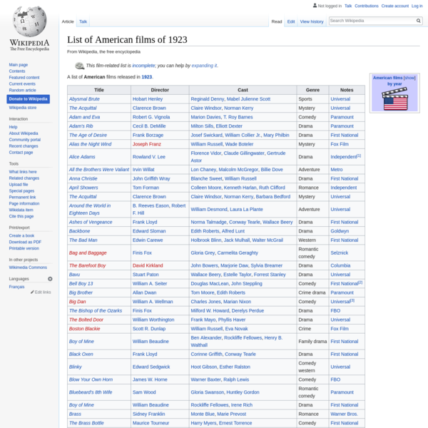 List of American films of 1923 - Wikipedia