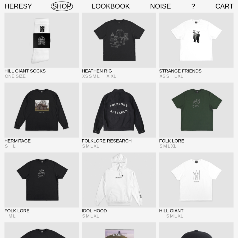 Shop current HERESY collections and objects. Shipping worldwide