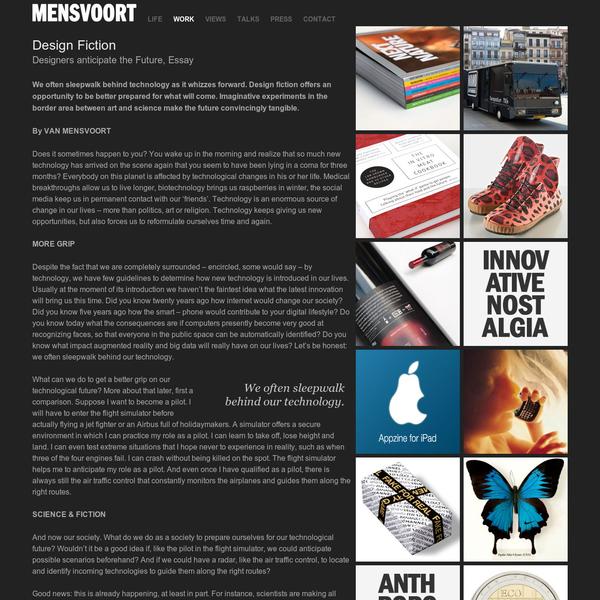 Mensvoort.com - Home of artist, technologist and philosopher Koert van Mensvoort - Design Fiction