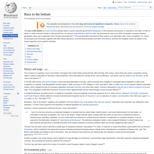 Are na / Race to the bottom - Wikipedia