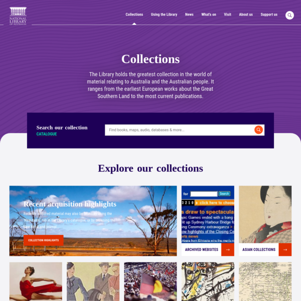 Collections | National Library of Australia