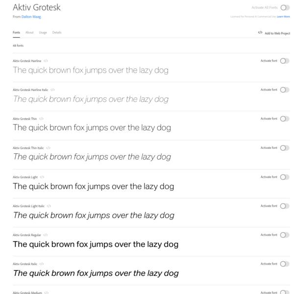Aktiv Grotesk | Adobe Fonts
