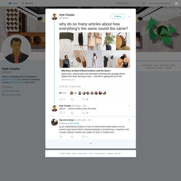 Kyle Chayka on Twitter