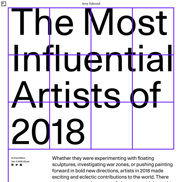 The Most Influential Artists of 2018