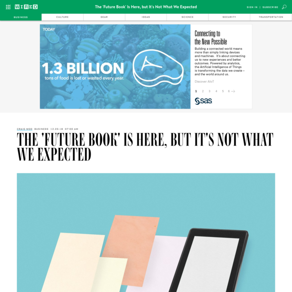 The 'Future Book' Is Here, but It's Not What We Expected | WIRED