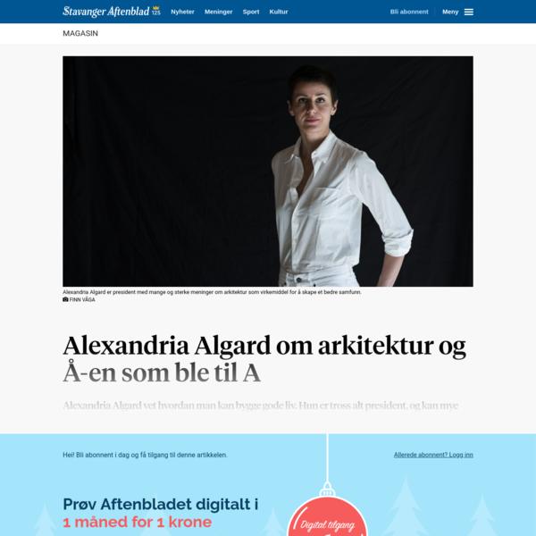Alexandria Algard om arkitektur og Å-en som ble til A