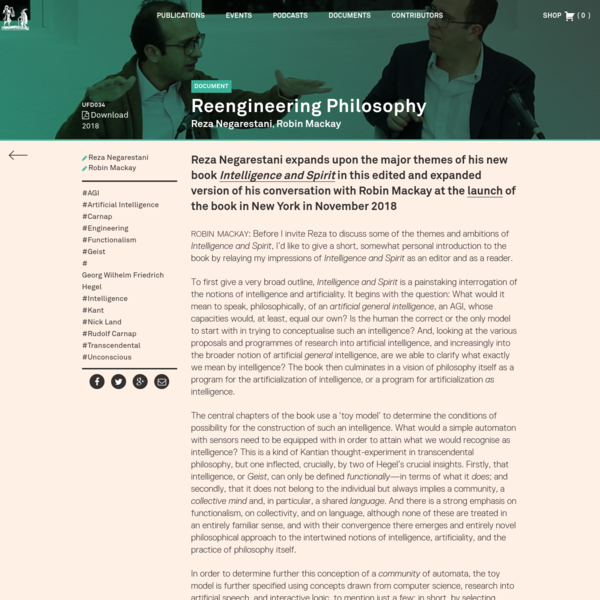 Reengineering Philosophy - Urbanomic
