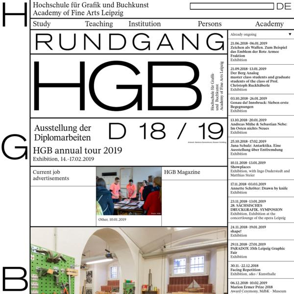 Hochschule für Grafik und Buchkunst Academy of Fine Arts Leipzig