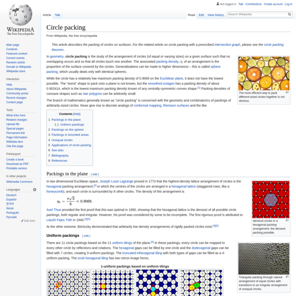 Circle packing - Wikipedia