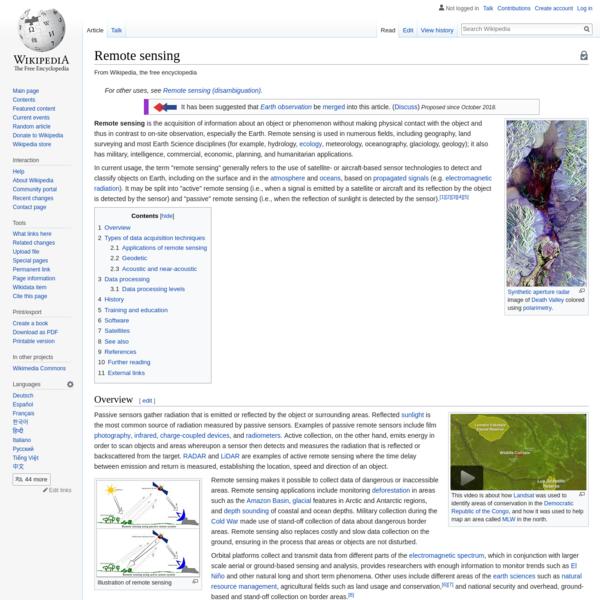 Remote sensing - Wikipedia