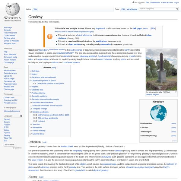 Geodesy - Wikipedia