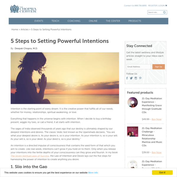 5 Steps to Setting Powerful Intentions