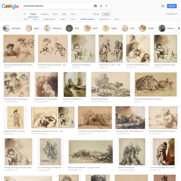 rembrandt sketches - Google Search