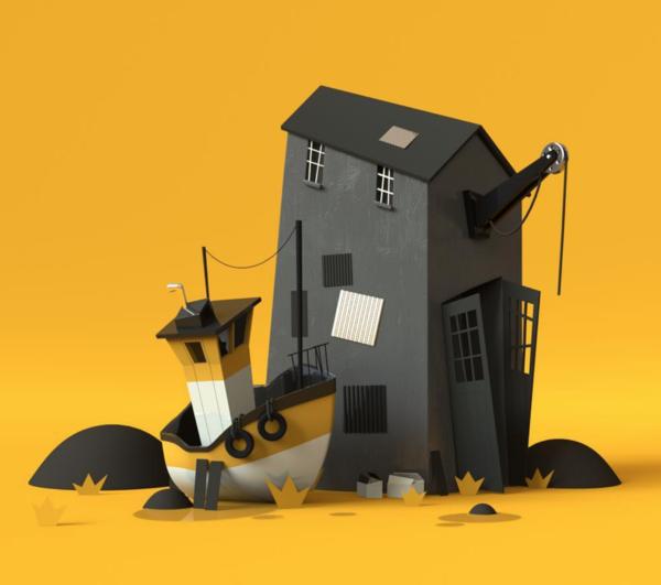 david pronner - boat, house, render, cg